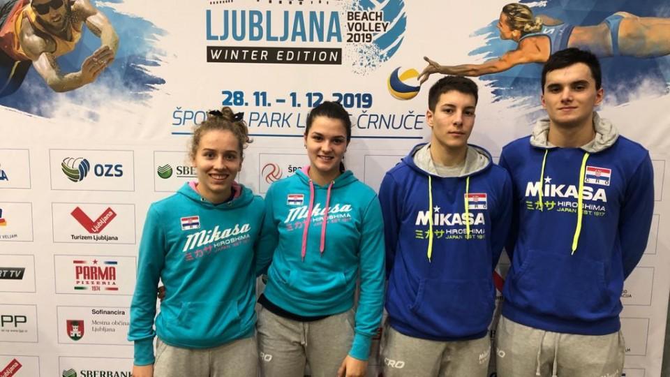 Mladi hrvatski predstavnici nastupaju u Ljubljani na MEVZA zimskom prvenstvu u odbojci na pijesku